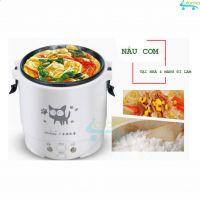 Nồi cơm điện 1L mini Rice Cooker nấu cơm hâm nóng nấu cháo hầm xương