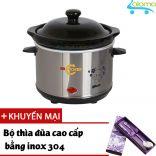 Nồi nấu chậm hầm kho nấu cháo dinh dưỡng 0.7 lít BBcooker BS07 - Tặng bộ thìa đũa Inox