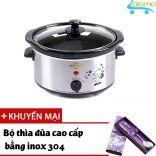 Nồi nấu chậm hầm kho nấu cháo dinh dưỡng 3.5 lít BBcooker BS35 - Tặng bộ thìa đũa Inox