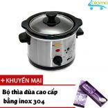 Nồi nấu chậm hầm kho nấu cháo dinh dưỡng 1.5 lít BBcooker BS15 - Tặng bồ thìa đũa bằng Inox