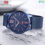Đồng hồ nam cao cấp dây thép mặt 38mm Mini Focus chống nước (Blue)