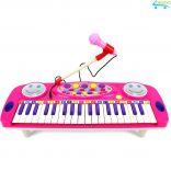 Đồ chơi đàn Organ mini kèm micro cho bé tập đàn tập hát Electronic Organ No.3702A