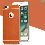 Ốp lưng silicone mặt lưng da cho Iphone 6 plus và iphone 6s plus (Red)