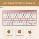 Bàn phím Bluetooth không dây Cantase CS08 cho Ipad, máy tính, tablet, điện thoại