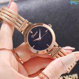 Đồng hồ nữ dây thép mặt đá Sapphire chống nước Dimini D5266 (Vàng)