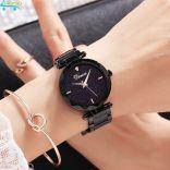 Đồng hồ nữ dây thép mặt đá Sapphire chống nước Dimini D5280 (Đen)