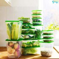 Bộ 17 hộp nhựa an toàn có nắp đựng thực phẩm để tủ lạnh OEM IK-17