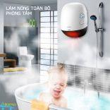 Máy sưởi nhà tắm KJapan CR-008 để bàn hoặc treo tường kèm thổi gió tạo ion âm cao cấp