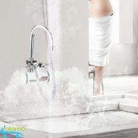 Máy làm nóng nước trực tiếp tại vòi có vòi rửa và vòi sen QWater RX-04 loại gắn tường