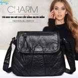 Túi đeo vai nữ da PU mềm Charm CM-21 cao cấp đựng tiền điện thoại mỹ phẩm