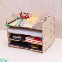 Kệ gỗ để bàn 4 tầng đựng tài liệu sách vở đồ dùng Homebi HB-KG02