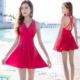 Đồ bơi váy tắm nữ kèm lót ngực YouYou quyến rũ model 2019 (Đỏ)