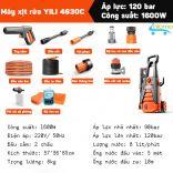 Máy phun xịt rửa áp lực cao 1600W YILI 4630C rửa xe rửa sàn đường cực mạnh