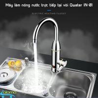 Máy làm nóng nước trực tiếp tại vòi Qwater IN-01 bằng inox kèm ổ điện chống giật