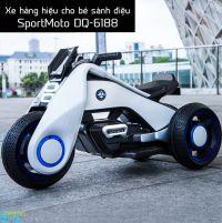 Xe điện 3 bánh cho bé kiểu dáng mô tô SportMoto DQ-6188 có đèn và nhạc bắt mắt