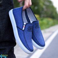 Giày lười nam phong cách Hàn Quốc Leisure N19 siêu nhẹ bằng vải sợi Canvas