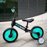 Xe đạp thăng bằng tập đi chắc chắn cho bé SCRATCH ST-4B có bánh phụ và bàn đạp gắn liền hoặc tháo rời