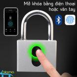 Ổ khóa thép cỡ lớn mở bằng vân tay hoặc App điện thoại OKLOK GS-60FB chống nước chống phá khóa