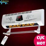 Máy sưởi gốm cao cấp Dilipu BPT-4502 hiển thị nhiệt độ kèm điều khiển từ xa để bàn hoặc treo tường