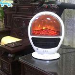 Máy sưởi ấm kèm màn hình 3D ngọn lửa DILIPU GH-906 làm ấm và thổi gió 1500W để bàn sang trọng