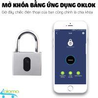Ổ khóa Bluetooth cỡ lớn mở bằng app OKLOK GS60B chất liệu thép không gỉ chống nước chống phá khóa cao cấp