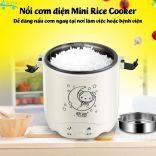 Nồi cơm điện mini 1.2L Mini Rice Cooker nấu cơm làm bánh nấu cháo cho 1-2 người nấu cơm tại văn phòng bệnh viện