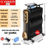 [Bảo hành 24 tháng] Máy sưởi dầu 11 thanh Yangzi YL-1811 làm ấm tự nhiên kèm giá phơi làm ấm phòng 10-30m2