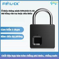 Ổ khóa vân tay kèm chìa khóa cỡ lớn Fipilock FL-S5 chống nước chống phá khóa lưu 10 vân tay