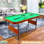 Đồ chơi bàn Bi-A mini 1.4m bằng gỗ mặt nỉ ⚡ Bàn Bida cỡ lớn 140x75cm ⚡ Dùng cho cả người lớn và trẻ nhỏ