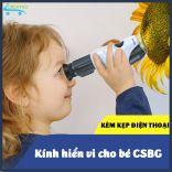 Kính hiển vi cầm tay độ phóng 100 lần CSBG-100X cho bé khám phá tìm hiểu khoa học