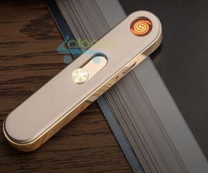 Bật lửa điện sạc USB chất liệu kim loại Honest HS-75