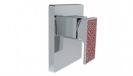 Mặt nạ sen tắm Strayt Deco âm tường 40mm, tay chỉnh màu đỏ 37336T-4DPR