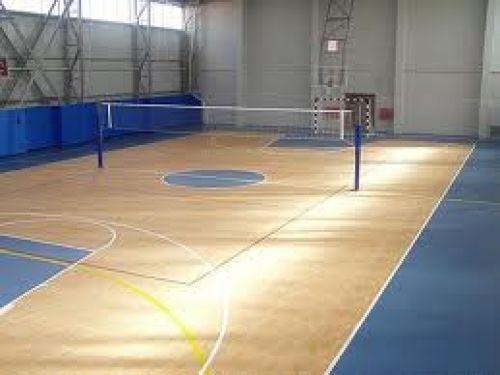 Vinyl sport floor