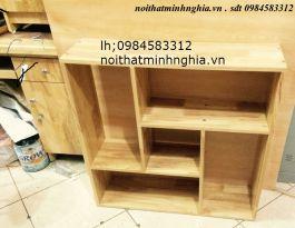 giá sách gỗ cao su 80x80x20