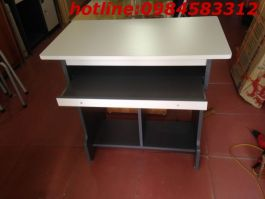 bàn vi tính 80 BVT80cm màu ghi chì