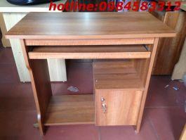 bàn vi tính 80 BVT80cm màu vân xoan có tủ 001