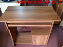 bàn vi tính 80 BVT80cm màu vân xoan có tủ