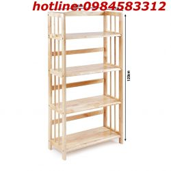 kệ sách 3 tầng 50 KSG3T50 gỗ tự nhiên