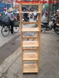 kệ sách 5 tầng 40 KSG5T40 gỗ tự nhiên