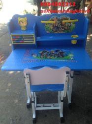 bàn ghế trẻ em màu xanh dương mẫu 01