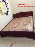 Giường gỗ tự nhiên 160x200 gỗ keo