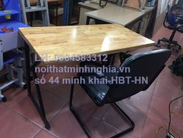 bàn làm việc chân sắt CK1206 +ghế chân quỳ