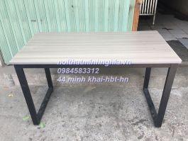 bàn làm việc chân sắt CU1206 mặt gỗ công nghiệp