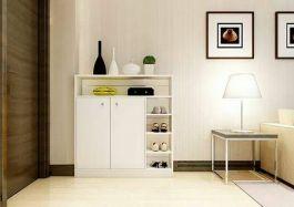tủ giày 120x90x32 màu trắng sứ