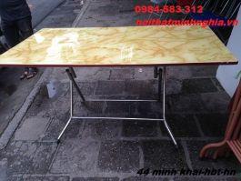 bàn ăn chân gấp 140x80x75cm