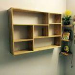giá sách treo gỗ cao su 120x80x20 NT màu tự nhiên