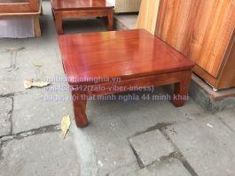 bàn osin vuông 55 gỗ xoan