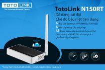 Bộ Phát Wifi TotoLink N150RT 1 râu Chuẩn N Tốc Độ 150Mbps