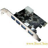 Card chuyển đổi PCI-Express 4 Port USB 3.0 cho máy tính bàn