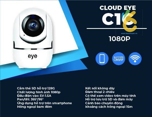 Camera IP WIFI 2.0 EyE C1C 1080P chính hãng